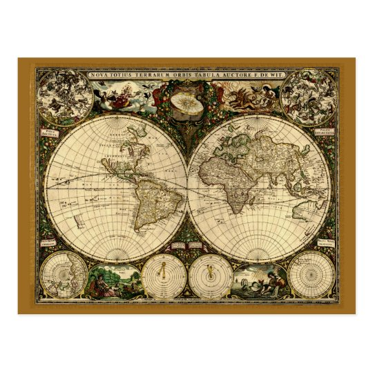 Old World Map Gifts Postcard