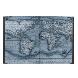 Old World Map In Blue