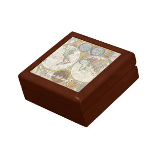 Old World Map In Double Hemispheres, 1794 Gift Box