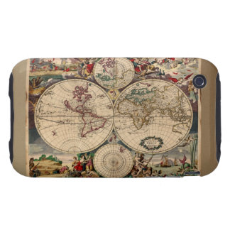 Old World Map iPhone 3 Case