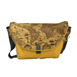 Old world map bags handbags zazzle old world map messenger bag gumiabroncs Images