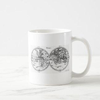 Old world map mug