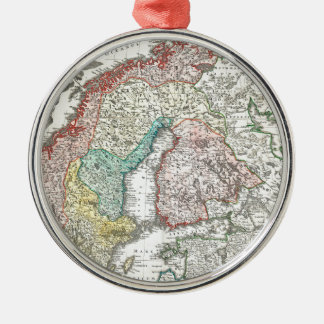 Old World Map of Northern Europe Christmas Ornament