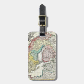 Old World Map of Northern Europe Luggage Tag