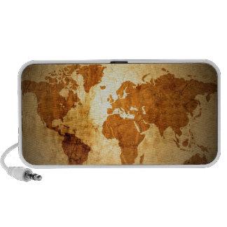 old world map on vintage crinkled paper mini speaker