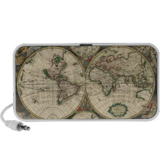 Old World Map Mp3 Speakers