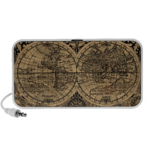 Old World Map Speakers