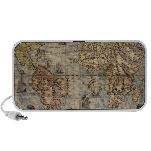 Old World Map Travel Speakers