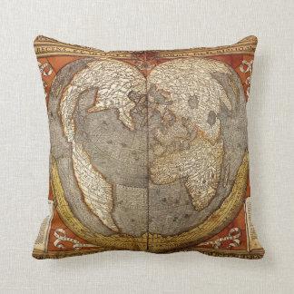 Old World Map Throw Pillow Cushion