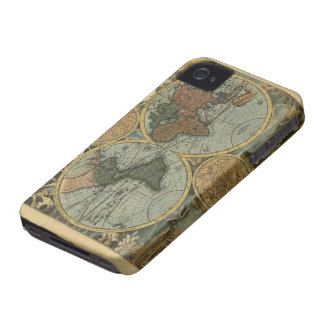 Old World Map, Vintage Maps Case-Mate iPhone 4 Cases