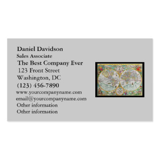 Old World Map with Colorful Artwork Pack Of Standard Business Cards