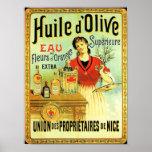 Old World Olive Oil Vintage Cooking Poster