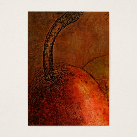 Old World Pear Art Business Card