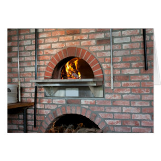 Old World Pizza Oven Card