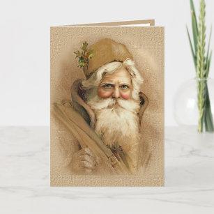 Old World Santa 2 Holiday Card