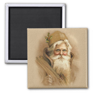 Old World Santa 2 Square Magnet