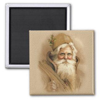 Old World Santa 2 Square Magnet
