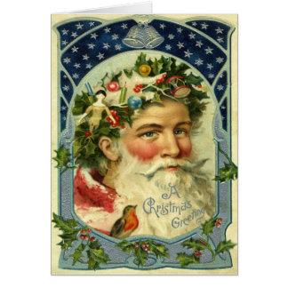 Old World Santa Claus Card