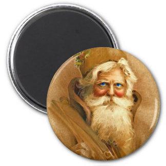 Old World Santa Claus, Vintage Victorian St. Nick 6 Cm Round Magnet