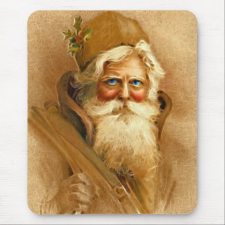 Old World Santa Claus, Vintage Victorian St. Nick Mouse Mat