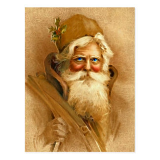 Old World Santa Claus, Vintage Victorian St. Nick Postcard