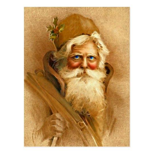 Old World Santa Claus, Vintage Victorian St. Nick Postcard