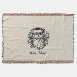 Old World Santa Throw Blanket