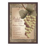 Old World Tuscan Grapevine Wine Bridal Shower 13 Cm X 18 Cm Invitation Card