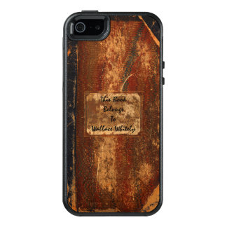 Old Worn Out Grunge Text Book OtterBox iPhone 5/5s/SE Case