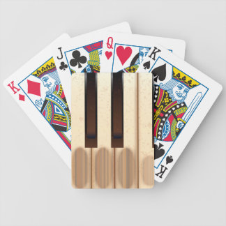 Old Worn Piano Keys Bicycle Playing Cards