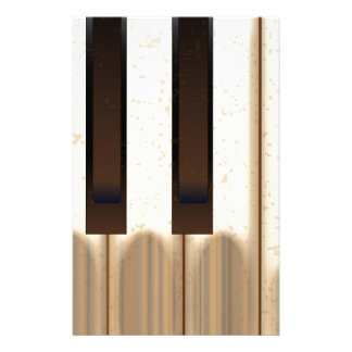 Old Worn Piano Keys Personalised Stationery