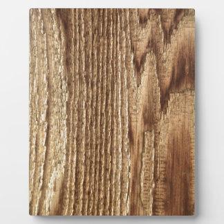 Old Worn Wood Plaque