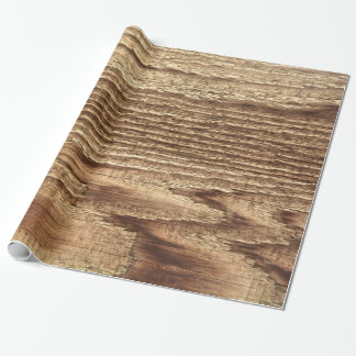 Old Worn Wood Wrapping Paper