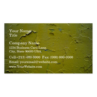 Old Yellow paint cracked Business Cards