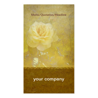 Old Yellow Rose Profile Card Pack Of Standard Business Cards