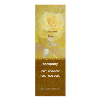 Old Yellow Rose Profile Card Pack Of Skinny Business Cards