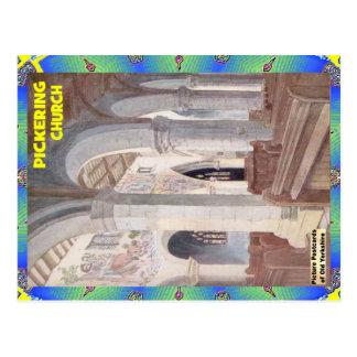 OLD YORKSHIRE - PICKERING CHURCH POSTCARD
