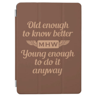 """""""Old & Young"""" custom monogram device covers iPad Air Cover"""