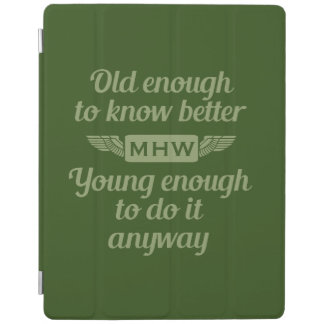 """Old & Young"" custom monogram device covers iPad Cover"