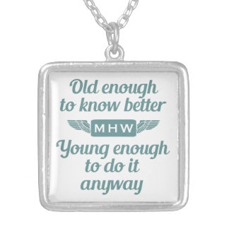 """""""Old & Young"""" custom monogram necklace"""