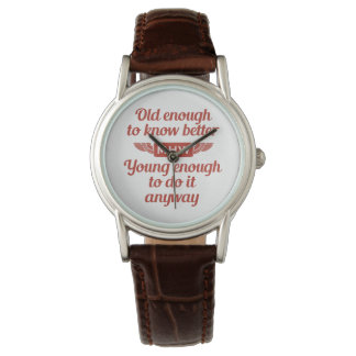 """""""Old & Young"""" custom monogram watches"""