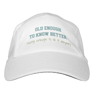 """Old & Young"" custom name hat"