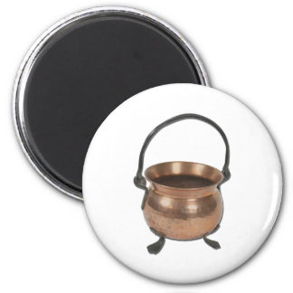OldCopperPotCooking060411 6 Cm Round Magnet