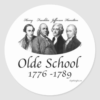 Olde School Round Sticker