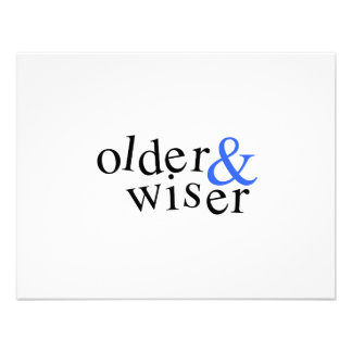 Older and Wiser Personalized Invitations