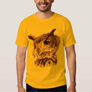Older and wiser owl art t-shirt