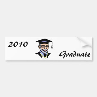 Older Graduate Car Bumper Sticker