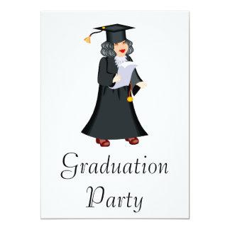 Older Graduate 13 Cm X 18 Cm Invitation Card