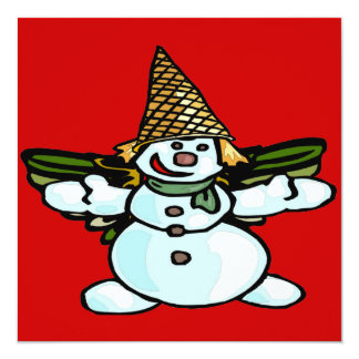 Older New Orleans Snowman, Mr Bangle 13 Cm X 13 Cm Square Invitation Card