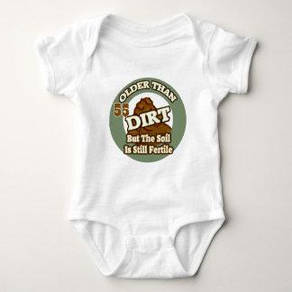 Older Than Dirt 55th Birthday Gifts Baby Bodysuit